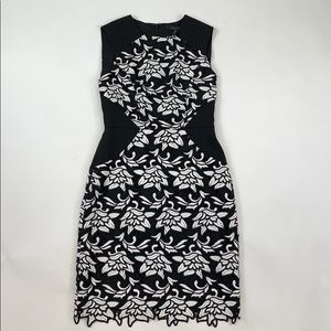 BCBG MaxAzria Fitted Lace Floral Dress